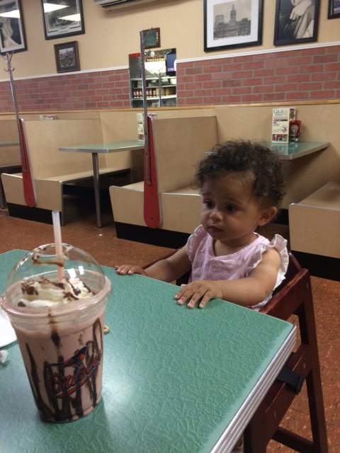 Contemplating a milkshake